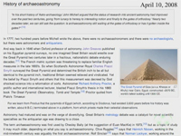 History of Archaeoastronomy article