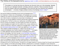 Politics of Archaeoastronomy section briefly appeared in Wikipedia's article